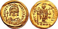 Ancient Coins - Justinian I. 527-565. AV Solidus (20mm, 4.45 g, 6h). Constantinople mint