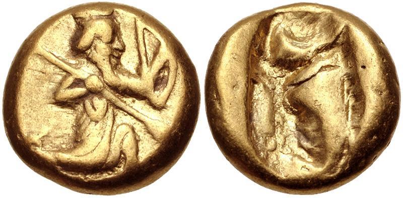 Ancient Coins - PERSIA, Achaemenid Empire. temp. Darios I to Xerxes II. Circa 485-420 BC. AV Daric