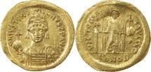 Ancient Coins - BYZANTINE EMPIRE: Justinian I, 527-565, AV solidus (26mm, 4.35g), Constantinople