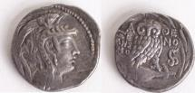 Ancient Coins - ATTICA, Athens. 168/5-50 BC. AR New Style Tetradrachm (28mm, 15.85 g)