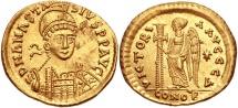Anastasius I. 491-518. AV Solidus (21mm, 4.47 g, 6h). Constantinople mint, 4th officina.