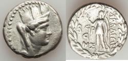 Ancient Coins - PHOENICIA. Aradus. Ca. 138/7-44/3 BC. AR tetradrachm (14.90 gm). VF.  Dated Civic Year 192