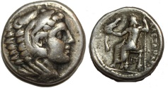 Ancient Coins - Alexander III. 336-323  BC. AR Tetradrachm (16.9  gm, 25 mm)