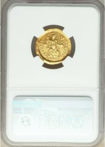 Ancient Coins - Theodosius II, Eastern Roman Empire (AD 402-450). AV solidus (21mm, 4.43 gm, 6h). NGC