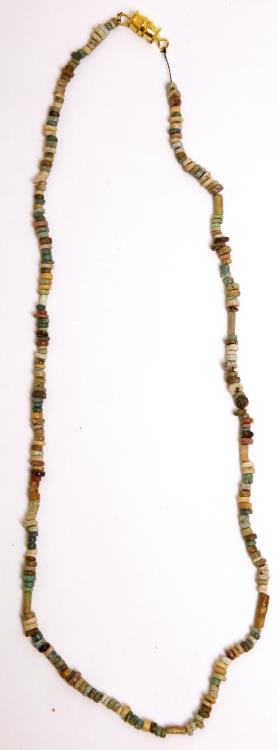 Ancient Coins - Ancient Egyptian Faience Beaded Necklace Late period, ca. 700-30 B.C.