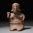 Ancient Pre Columbin Nayarit Seated Female Figure, western Mexico, c. 100 B.C. - 250 A.D