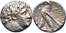 Ancient Coins -  PHOENICIA, Tyre. 126/5 BC-AD 65/6. AR Shekel (27mm, 13.65 g, 1h). Dated CY 32 (95/4 BC).