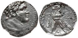 Ancient Coins - PHOENICIA, Tyre. 126/5 BC-AD 65/6. AR Shekel (28mm, 13.22 g, 1h). Dated CY 70 (57/6 BC).