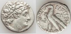 Ancient Coins - PTOLEMAIC EGYPT. Cleopatra III and Ptolemy IX Soter II (116/5-107 BC). AR tetradrachm