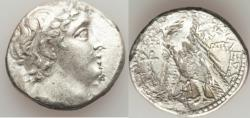 Ancient Coins - SELEUCID KINGDOM. Demetrius II Nicator (second reign, 129-125 BC). AR tetradrachm (13.01 gm). Fine. Tyre, uncertain date. Diademed, beardless, draped bust of Demetrius II right, se