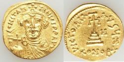 Ancient Coins - Constans II Pogonatus (AD 641-668). AV solidus (21mm, 4.42 gm, 6h). XF.