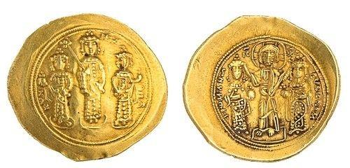 Ancient Coins - Byzantine Empire. Romanus IV Diogenes with Eudocia, Michael VII, Constantius and Andronicus