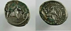 Ancient Coins - ARABIA FELIX, Himyarites. Shahar-Hilal. 1st century BC. AR Unit (18mm, 2.35 g).