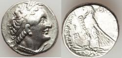 Ancient Coins - PTOLEMAIC EGYPT. Ptolemy I Soter (305-282 BC). AR tetradrachm (13.98 gm). VF,