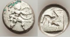 Ancient Coins - PAMPHYLIA. Aspendus. Ca. mid-5th Century BC. AR stater (20mm, 10.82 gm). VF,