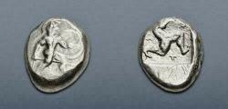 Ancient Coins - PAMPHYLIA, Aspendos. Circa 465-430 BC. AR Stater (21mm, 10.80 g, 12h).