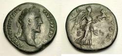 Ancient Coins - Antoninus Pius. AD 138-161. Æ Sestertius (33mm, 26.73). Rome mint.
