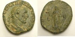 Ancient Coins - Trajan Decius. AD 249-251. Æ Sestertius (27mm, 17.20 g,). Rome mint,