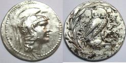 Ancient Coins - ATTICA, Athens. Circa 165-42 BC. AR Tetradrachm (33mm, 16.7 gm). New Style coinage.