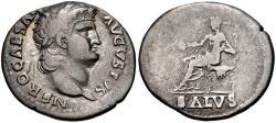 Ancient Coins - Nero. AD 54-68. AR Denarius (19mm, 3.17 g, 5h). Rome mint. Struck circa AD 65-66.