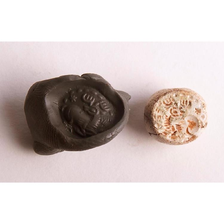 Ancient Coins - Ancient Sasanian Agate Stamp Seal c.5th century A.D.