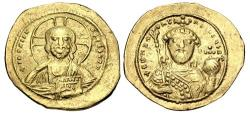 Ancient Coins - Constantine IX Monomachus. 1042-1055. AV Tetarteron Nomisma (20mm, 4.02 g, 5h). Constantinople