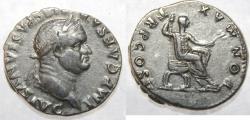 Ancient Coins - VESPASIAN. 69-79 AD. AR Denarius (18mm, 3.57 gm). Struck 74 AD.