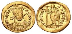 Ancient Coins - Leo I. AD 457-474. AV Solidus (20mm, 4.14 g, 6h). Constantinople mint, 9th officina.