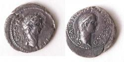 Ancient Coins - Ancient KINGS of PONTUS. Polemo II, with Claudius. AD 38-62. AR silver Drachm