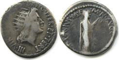Ancient Coins - Mark Antony. 38 BC. AR Denarius (18mm, 3.6 gm). Athens mint.