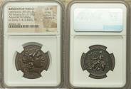 Ancient Coins - THRACIAN KINGDOM. Lysimachus (305-281 BC). AR tetradrachm (27mm, 17.07 gm, 12h). NGC