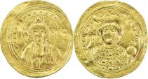 Ancient Coins - BYZANTINE EMPIRE: Michael IV, the Paphlagonian, 1034-1041, AV histamenon (26mm, 4.33g),