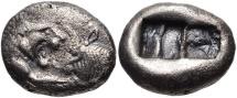 KINGS of LYDIA. Kroisos. Circa 564/53-550/39 BC. AR Hemistater