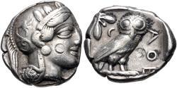 Ancient Coins - ATTICA, Athens. Circa 454-404 BC. AR Tetradrachm (23mm, 16.98 g, 9h).