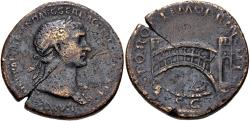 Ancient Coins - Trajan. AD 98-117. Æ Sestertius (33mm, 25.11 g, 6h). Rome mint. Struck AD 107-110.