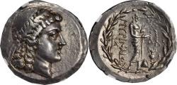 Ancient Coins - AEOLIS. Myrina. AR Tetradrachm (16.55 gms), ca. 155-145 B.C. NGC EF.
