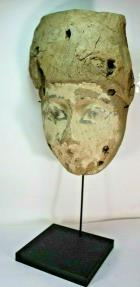 Ancient Coins - Ancient Egyptian Mummy Wood Mask c.664-332 BC.