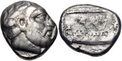 Ancient Coins - PHOENICIA, Arados. Uncertain king. Circa 370-346 BC. AR Shekel (18.5mm, 9.72 g, 4h).