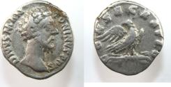 Ancient Coins - Divus Antoninus Pius. Died AD 161. AR Denarius (17mm, 3.0 g). Commemorative issue.