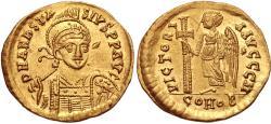Ancient Coins - Anastasius I. 491-518. AV Solidus (21mm, 4.46 g, 6h). Constantinople mint, 8th officina.