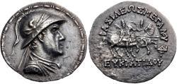 Ancient Coins - BAKTRIA, Greco-Baktrian Kingdom. Eukratides I Megas. Circa 170-145 BC. AR Tetradrachm