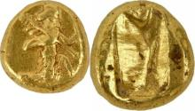 Ancient PERSIA, Achaemenid Empire. temp. Darios I to Xerxes II. Circa 485-420 BC. gold Daric