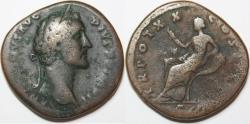 Ancient Coins - Antoninus Pius. AD 138-161. Æ Sestertius (32mm, 21.14 gm). Rome mint.