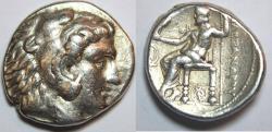 Ancient Coins - Macedon, Kings of. Alexander III. 336-323 BC. AR Tetradrachm (26mm, 17.0 gm).