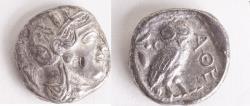 Ancient Coins - ATTICA, Athens. Circa 454-404 BC. AR Tetradrachm (26mm, 16.47 g).Athena/OWL