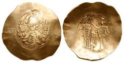 Ancient Coins - Manuel I Comnenus. 1143-1180. EL Aspron Trachy (33mm, 3.92 g, 6h). First coinage.
