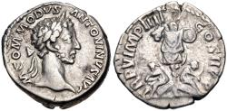 Ancient Coins - Commodus. AD 177-192. AR Denarius (17.5mm, 3.66 g, 6h). Rome mint. Struck AD 180.