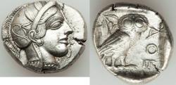 Ancient Coins - ATTICA. Athens. Ca. 440-404 BC. AR tetradrachm (25mm, 17.20 gm, 4h)