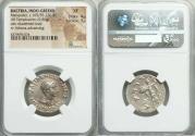 Ancient Coins - INDO-GREEK KINGDOMS. Bactria. Menander I Soter (ca. 165/55-130 BC). AR Indic tetradrachm