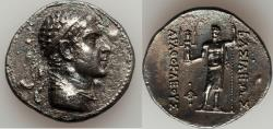 Ancient Coins - BACTRIAN KINGDOM. Agathocles (ca. 185-170 BC). AR tetradrachm (30mm, 16.19 gm, 12h).